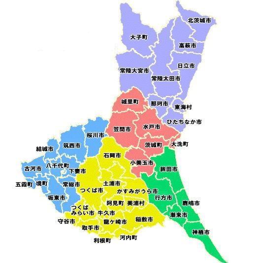 茨城県全体地図